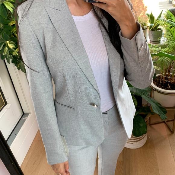 *NWT* Zara Light Grey Blazer Size 2